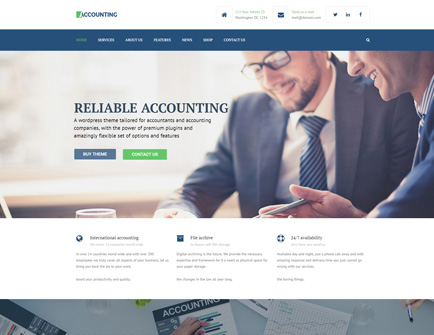 Anpsthemes Wordpress Templates Demo Accounting Wp