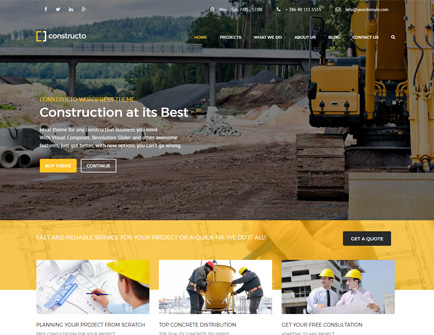Constructo - Construction WordPress Theme for Construction, Building and Architecture Business