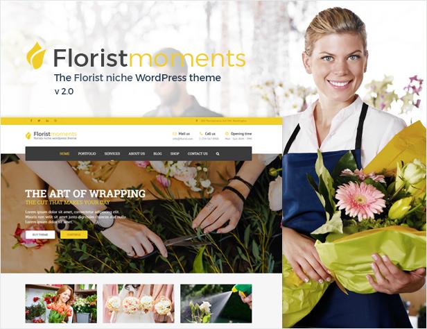 Florist - Florist & Landscaping WP Theme - 1