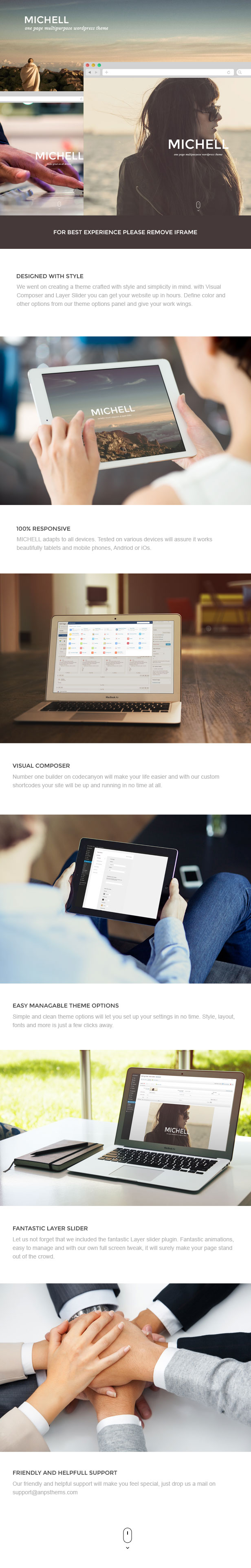 Michell - One Page Multipurpose Theme