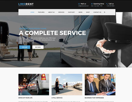 AnpsThemes WordPress Templates Demo | Limo Rent - Limousine and Car ...