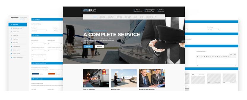 Limo Rent - Limousine, car rental WordPress theme - Theme Options