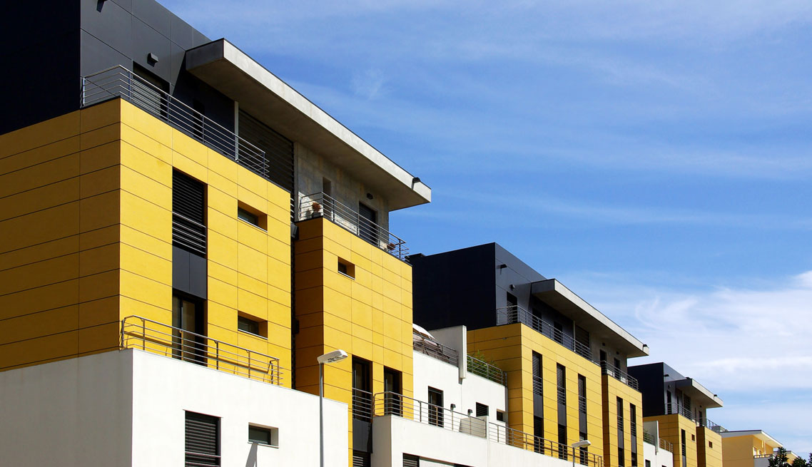 Yellow cube residence