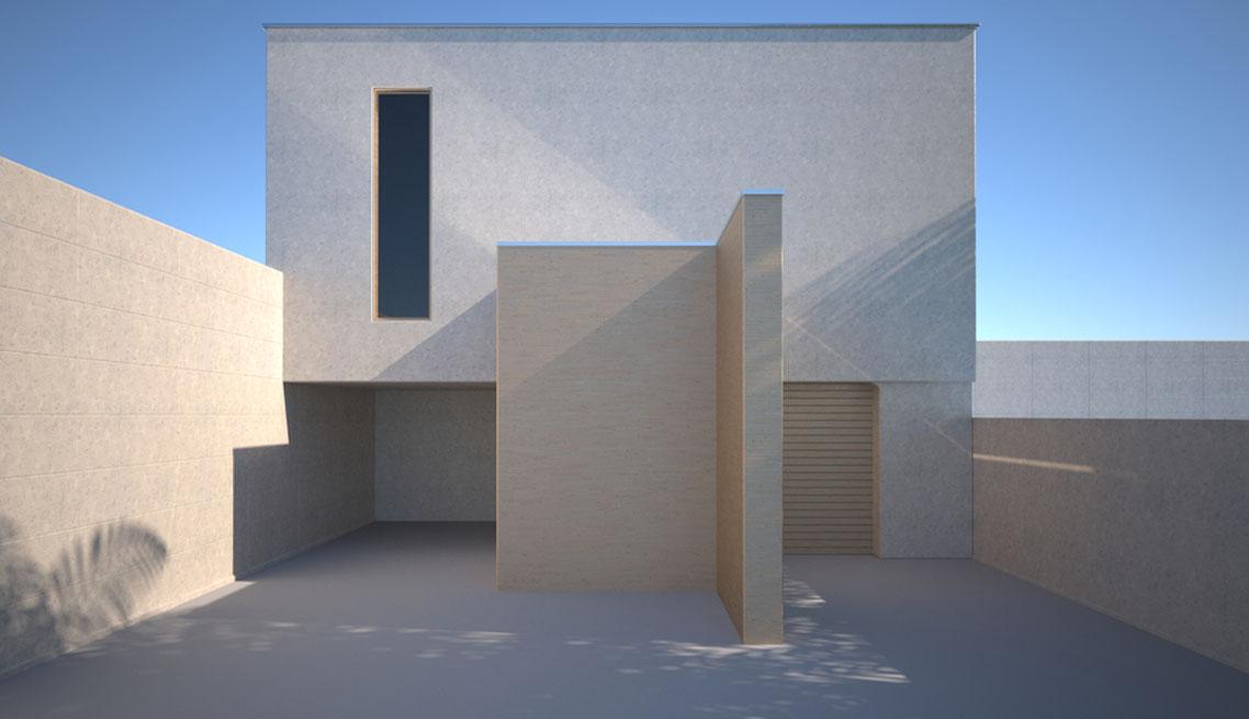 Cubical beach residence