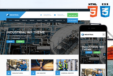 Industrial HTML/CSS template