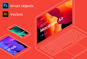 iPhone, iPad and Macbook Mockups